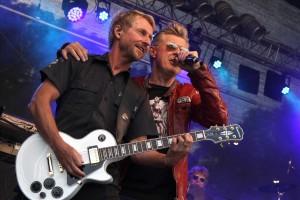 Markus und seine Band lieferten eine (manchmal zu) routinierte Show. (Foto: Björn Othlinghaus)