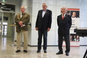 Drei Sänger, die für ihre 60-jährige Chormitgliedschaft geehrt wurden. (Foto: Björn Othlinghaus)