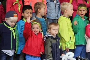 Auch Kinder aus Lüdenscheider Kindergärten machten beim Gospelday mit. (Foto: Björn Othlinghaus)