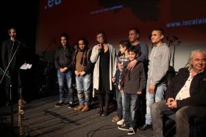 Christina Appelt (mit Mikro) stellte ein Fotoprojekt mit Flüchtlingen vor. (Foto: Björn Othlinghaus)