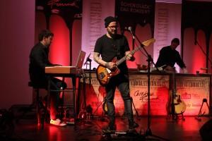 Keyboarder Martin Schräpfer und Gitarrist Mikey Lessing. (Foto: Björn Othlinghaus)