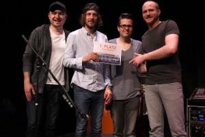 """""""The Atrium"""" freuen sich zu Recht über den Gewinn des On Stage Bandcontest. (Foto: Björn Othlinghaus)"""