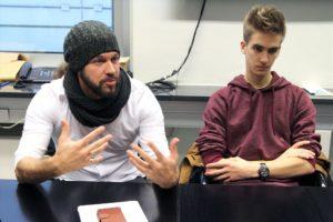 Klaus Sonnabend und Benedikt Czylwik bei der Projektvorstellung. (Foto: Björn Othlinghaus)