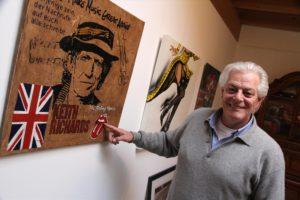 Der Künstler und Grafiker Achim Kegel ist ein großer Fan legendärer Musiker wie Keith Richards. (Foto: Björn Othlinghaus)
