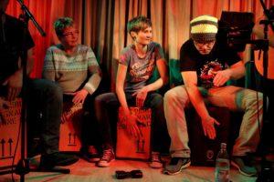 Percussion-Trio mit Schülern von Christian Breddermann. (Foto: Björn Othlinghaus)