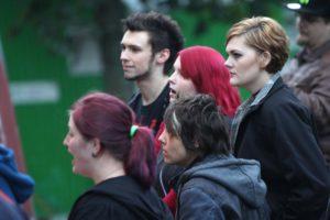 Nicht so viele, aber dafür interessierte Zuschauer bei der letzten Veranstaltung des Kult.Park-Festivals 2017. (Foto: Björn Othlinghaus)