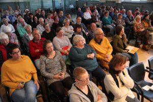 Die Schwedische Kriminacht im Saal der Stadtbücherei war ausverkauft. (Foto: Björn Othlinghaus)