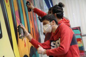 Graffiti-Action im LIBZ. (Foto: Björn Othlinghaus)