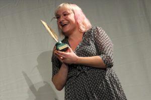 Freute sich über die Goldene Feder: Marie Gdaniec. (Foto: Björn Othlinghaus)